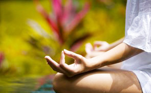 outdoor yoga happiness
